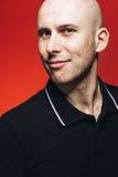 Bald man portrait Stock Photography