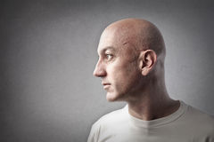 Bald man profile Stock Image
