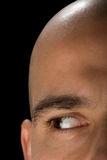 Bald man right eye Stock Photos
