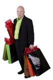 Bald man shopping Stock Photos