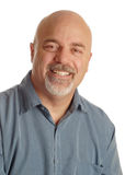 Bald man with smile royalty free stock image