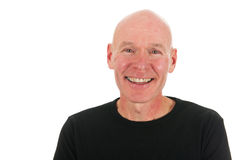 Bald man in studio Royalty Free Stock Photography