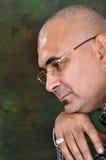 Bald man thinking Stock Images