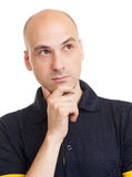Bald man thinking Royalty Free Stock Photography