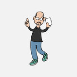 Bald man in tutle t shirt Royalty Free Stock Photo