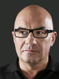 Bald Man Wearing Glasses Stock Images