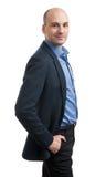 Bald man wearing suit Stock Image