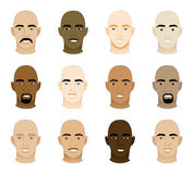 Bald Men Faces Royalty Free Stock Photos