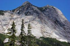 Steep mountainside. Side view of steep mountain showing treeline, British Columbia, Canada Stock Image