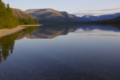 Bald mountain lake, Kola Peninsula, Murmansk region, Russia Stock Photo