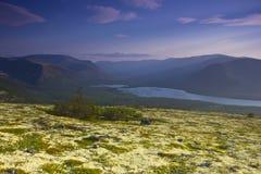 Bald mountain lake, Kola Peninsula, Murmansk region, Russia Royalty Free Stock Image
