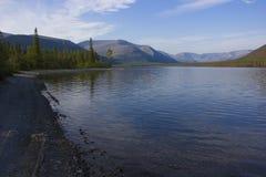 Bald mountain lake, Kola Peninsula, Murmansk region, Russia Stock Image