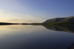 Bald mountain lake, Kola Peninsula, Murmansk region, Russia Stock Images