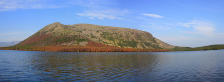 Bald mountain lake, Kola Peninsula, Murmansk region, Russia Royalty Free Stock Photography