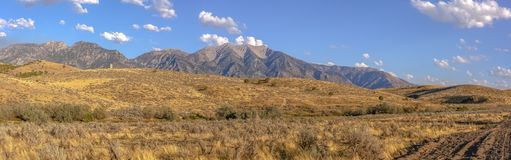 Bald Mountain overlooking Mount Nebo in Utah royalty free stock photography