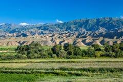 Bald mountains in Kyrgyzstan Stock Photo