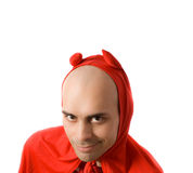 Bald red devil isolated Royalty Free Stock Images
