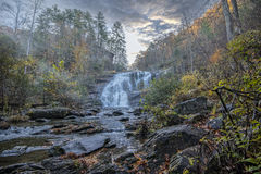 Bald River fall at sunrise. Bald River Falls in East Tennessee on the Telco River. This was taken in late fall at sunrise Stock Photography