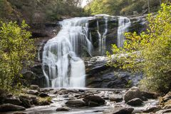 Bald river falls in autumn. Bald river falls in tennessee in early autumn Stock Images