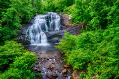 Bald River Falls Wide Perspective Royalty Free Stock Images