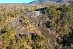 Bald Rock Heritage with Graffiti royalty free stock photo