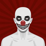 Bald scary Clown with smiling Face Royalty Free Stock Photography