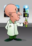 Bald scientist experiment Stock Photos