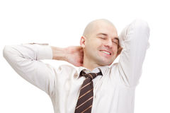 Bald smiling businessman Royalty Free Stock Image