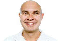 Bald smiling man. Isolated. Studio Royalty Free Stock Photo