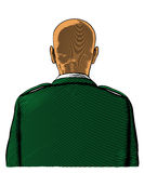 Bald soldier from back or rear view Royalty Free Stock Photo