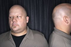 Bald twin men. royalty free stock photography