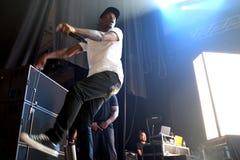 SO BALD WIE MÖGLICH felsiger Rapper von Harlem und Mitglied des Hip-Hop-Kollektivs greifen SO BALD WIE MÖGLICH im Konzert am Sona Stockbild