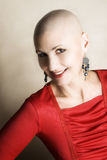 Bald Woman. Beautiful bald female with a kind expression Stock Photography