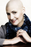 Bald Woman. Beautiful bald female with a kind expression Royalty Free Stock Photos