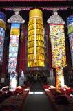 Baldacchino dell'interno del monastero di Drepung Fotografie Stock Libere da Diritti
