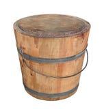 Balde de madeira velho isolado. imagem de stock royalty free