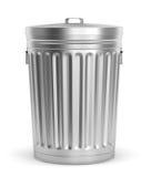 Balde do lixo de aço Imagem de Stock