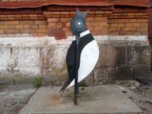 Balde do lixo de Pinguine Fotografia de Stock Royalty Free