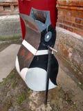 Balde do lixo de Pinguine Fotografia de Stock