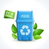 Balde do lixo do símbolo da ecologia Imagem de Stock