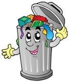 Balde do lixo dos desenhos animados Fotografia de Stock Royalty Free