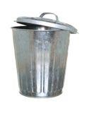 Balde do lixo, parte traseira entreaberta da tampa Imagem de Stock Royalty Free