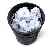 Balde do lixo preto Fotografia de Stock
