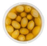 Balde verde-oliva acima do isolado imagem de stock