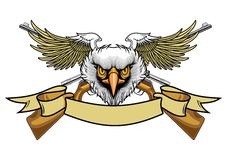 Balded eagle and rifles Royalty Free Stock Photo