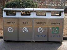Baldes do lixo Fotografia de Stock Royalty Free