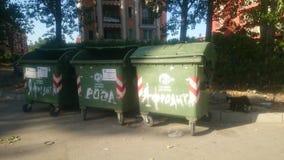 Baldes do lixo Fotos de Stock