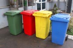 Baldes do lixo coloridos Foto de Stock Royalty Free