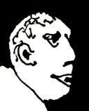 Baldhead Man Cartoon Royalty Free Stock Photos