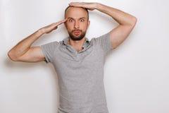 balding человек стоковое фото rf